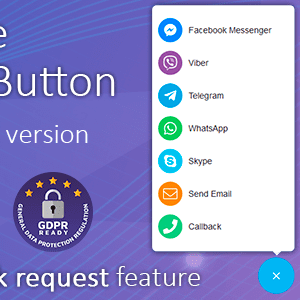 All in One Support Button + Callback Request. WhatsApp, Messenger, Telegram, LiveChat and more..Wp Plugin Latest Version Download