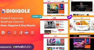 Digiqole - News Magazine WordPress Theme Latest Version Download