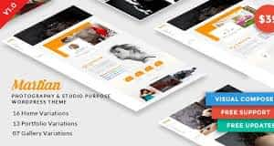 Martian | Photography & Studio Purpose WordPress Theme Latest Version Download