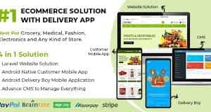 Best Ecommerce Solution with Delivery App For Grocery, Food, Pharmacy, Any Stores Laravel + IONIC5 GPL Download