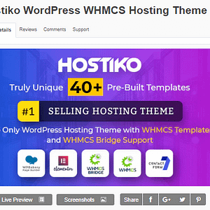 Hostiko WordPress WHMCS Hosting Theme Latest Download