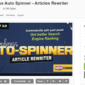 Free Download Wordpress Auto Spinner - Articles Rewriter Plugin