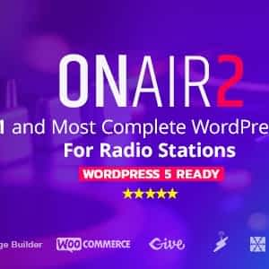 Onair2: Radio Station WordPress Theme v3.3.8 Download