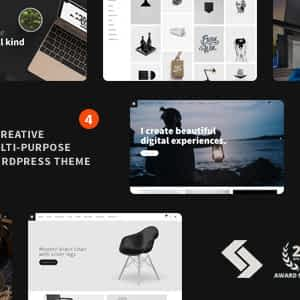 Minimal Creative Black and White WordPress Theme - Heli Download