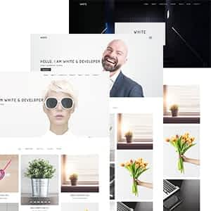 White - Minimal Portfolio WordPress Theme Latest Version Download