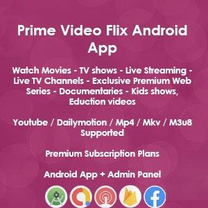 Download Latest Version Prime Video Flix App: Movies Shows Live Streaming TV Web Series Premium Subscription Plan