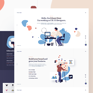 Ethant Hunt - Personal Onepage WordPress Theme
