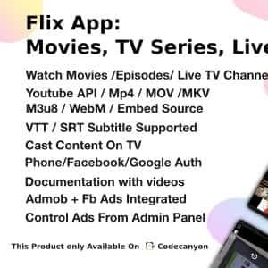 Flix App Movies TV Series Live TV Channels TV Cast Android app