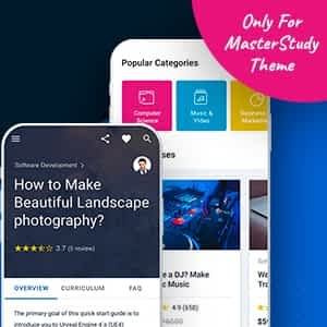 MasterStudy LMS Mobile App - Flutter iOS & Android Latest Version Download