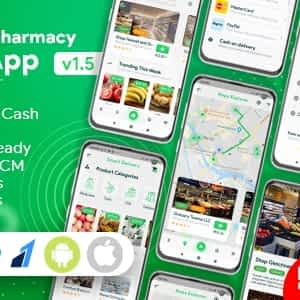 Download Grocery, Food, Pharmacy, Store Delivery Mobile App with Admin Panel Latest Version Download
