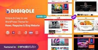 Digiqole - News Magazine WordPress Theme Latest Version Download