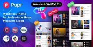Papr - News Magazine WordPress Theme Latest Version Download
