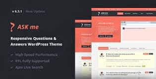 Ask Me - Responsive Questions & Answers WordPress Latest Version Download