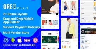 Oreo Fashion - Full React Native App for Woocommerce Free GPL Download