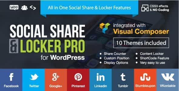 Social Share & Locker Pro Wordpress Plugin
