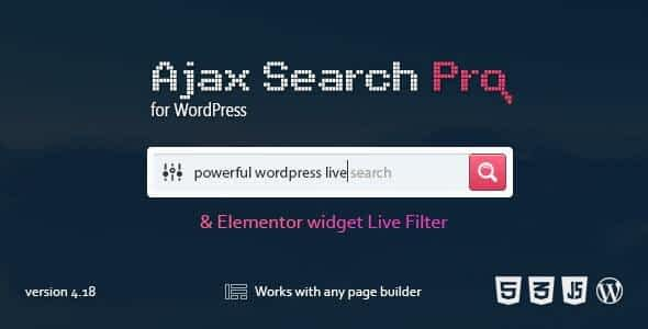 Ajax Search Pro - Live WordPress Search & Filter Plugin Latest Version Download