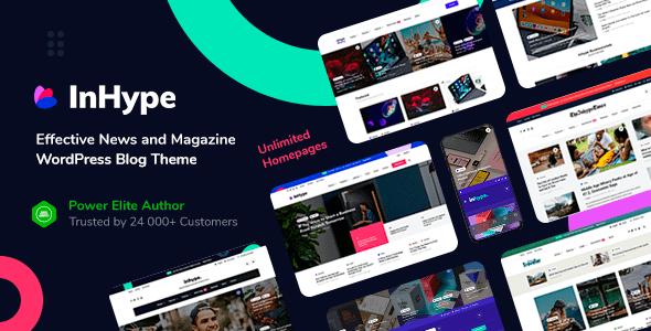 InHype - Blog & Magazine WordPress Theme Latest Version