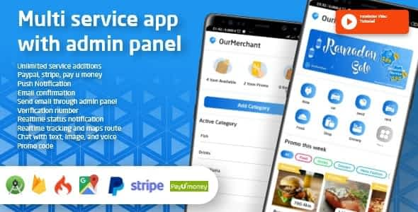 Ouride - Multi Service App With Customer App, Driver App, Merchant App and Admin Panel Latest Version Download