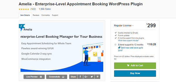 Amelia - Enterprise-Level Appointment Booking WordPress Plugin Latest Version Download