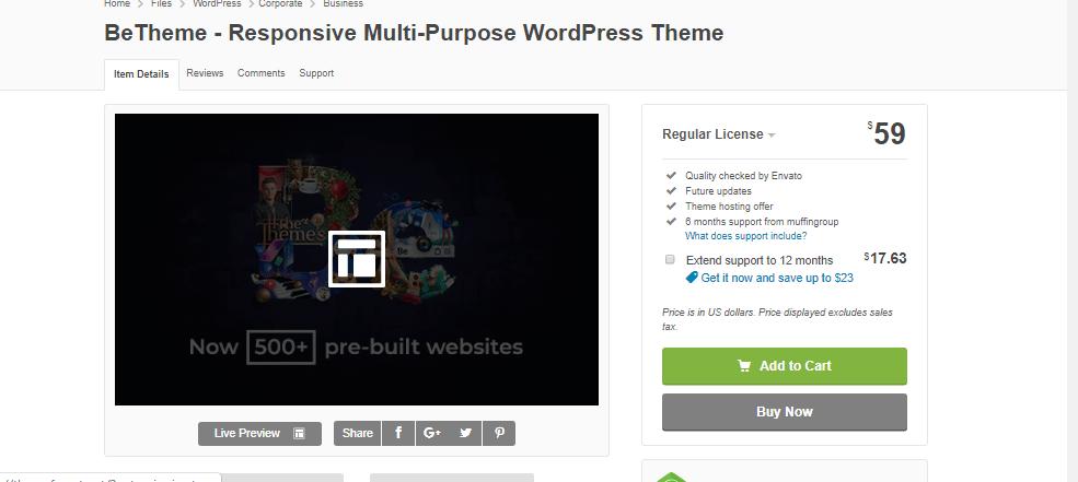 BeTheme - Responsive Multi-Purpose WordPress Theme Latest Version Download